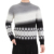 Custom high  quality Make Embroidered Cotton Cashmere Crewneck Sweater Men