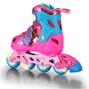 Detachable dirt professional artistic roller skates pu flashing weel easily adjustable size inline skate shoes