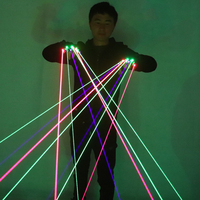 RGB Laser Gloves With 7pcs Laser 3pc Green +2PCS Red +2PCS Violet Blue LED Glove For DJ Club Party Show