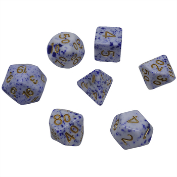 Customized color  funny game polyhedral dice dalmatians toys color