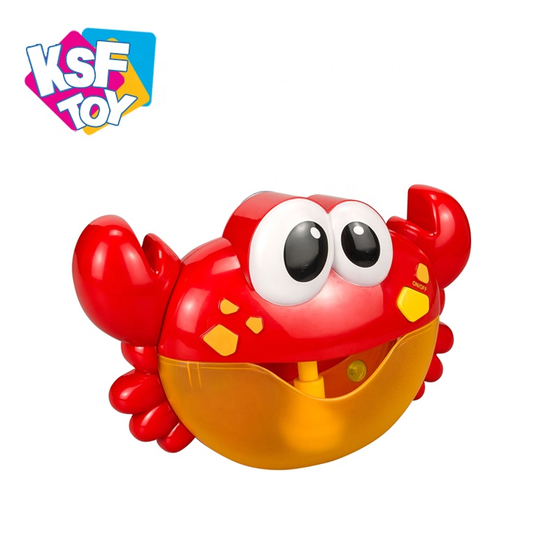2 in 1 baby bathroom toys blowing bubble bath toy automatic maker bubble crab with music