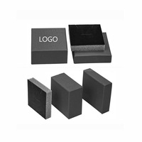 P150405 Can Custom logo printed foam filled bracelet jewelry boxes,Black Kraft Paper Necklace Bracelet Ring Earring Display Box