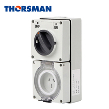 THORSMAN Waterproof IP66 electrical switch socket 1gang wall waterproof switch