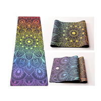 2019 Innovative Product Washable Organic Eco Custom Print Black Yoga Mat Non Slip Wholesale Rubber Tapete De Yoga