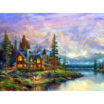 Beautiful scenery round or square drill diamond embroidery kits home decoration gift DIY full diamond painting