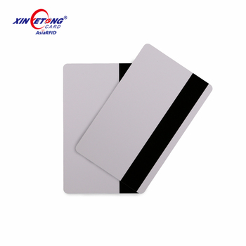 High quality Inkjet Blank HF F08 3 Track Magnetic Stripe PVC Magnetic rfid  Cards