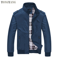 TONGYANG Fashion Spring Men's Jackets Solid Coats Male Casual Stand Collar Jacket Outerdoor Overcoat M-XXXXL