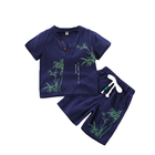 Boy Clothing Sets 2019 Wholesale Retail Cheap Cotton Hot Sale Loose Soft Chinese Style Plus Casual Soft Summer Kids Clothes