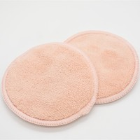 100% cotton natural colors reusable Face Cosmetic make up Remover Pads round shape