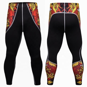 38e8cdf1185f9 Custom Running Gym Leggings Mens Compression Fitness Tights Pants Yoga  Sport Leggings Wholesale Sublimation Pattern Leggings