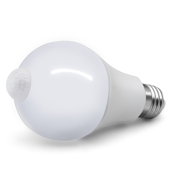 New design high brightness motion sensor light bulb  E26/E27 12W 70mm with PIR  motion sensor