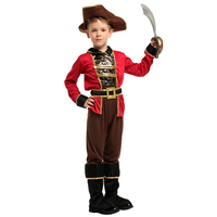 2019 New Design Kids Halloween Carnival Cosplay Pirate Suit For Children