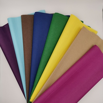 Good quality custom pure color blank silk wrapping tissue paper