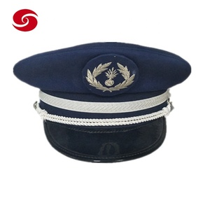 Military Peaked CapCap Men Army Office Hat With Chin Strap