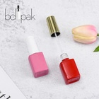 Wholesale Unique 12ml Empty UV Gel Nail Polish Bottle with Plastic Cap and Brush