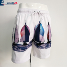 OEM 100% polyester digital print breathable shorts swimwear mens cheap water shorts bathing suit swim trunks beach shorts