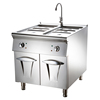 2019 New !! Commercia Kitchen Stainless Steel Gas Bain Marie with Cabinet