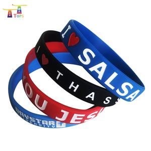 Party Embossed Cheap Energy Bracelet Pulsera De Oro 18k Logo Rubber Bracelets
