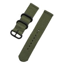 High Quality Nylon Watchband 18mm 20mm 22mm 24mm Two Parts For Samsung Gear S3 S2 Nylon Watch Strap