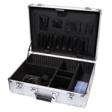Small Aluminum Hard Case Briefcase Silver Carrying briefcase tool box
