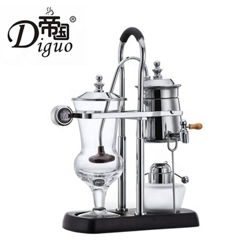 Commercial Household Luxury Royal Vacuum Cafetera Silver Color Belgium Balancing Siphon Coffee Maker