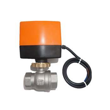 "2 way 1/2"" SS304 AC220v motor operating ball valve motorized water flow ball valve"