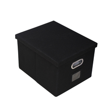 미장센 office storage linen fabric collapsible 파일 storage box 함