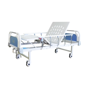 ABS Double Cranks Manual Medical Hospital Elderly Care Bed
