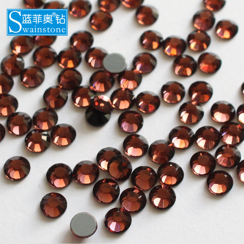 0614N hot selling burgundy ss16 4mm hot fix rhinestone ss20 5mm crystal transfer for bags