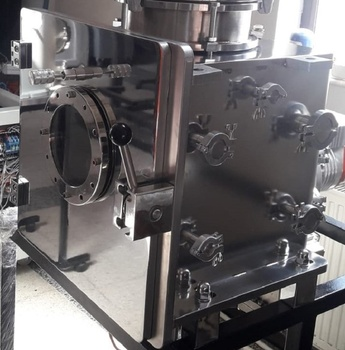 Ultra high vacuum stainless steel chamber for pvd coating machine