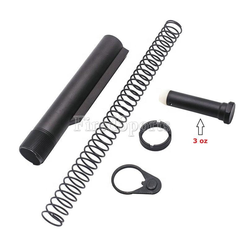 AR15 Black Standard Mil Spec six Position Carbine Buffer Tube Kit For Hunting