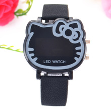 LED Electronics Hello Kitty Cartoon Watch Female Student Cute Children's Gift Watch