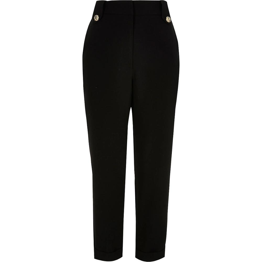 Womens Black Utility Customized Label High Quality Fashion Trendy Peg Trouser Pants