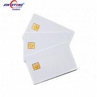 High Quality PVC RFID Contact IC Smart Blank Card with sle 4442 Chip