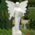 Life Size White Marble Garden Stone Angel Statue