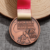 Custom cheap zinc alloy metal bronze antique marathon sports medal