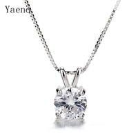 Hot Sale 925 sterling silver color single stone pendant