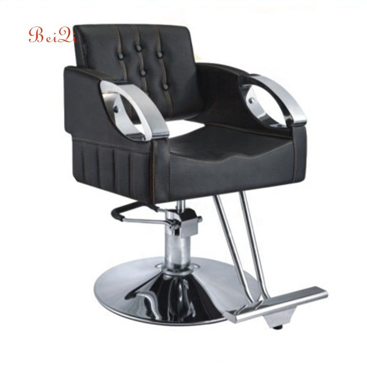 Hot sale cheap salon equipment styling hydraulic old fashion movable barber chair