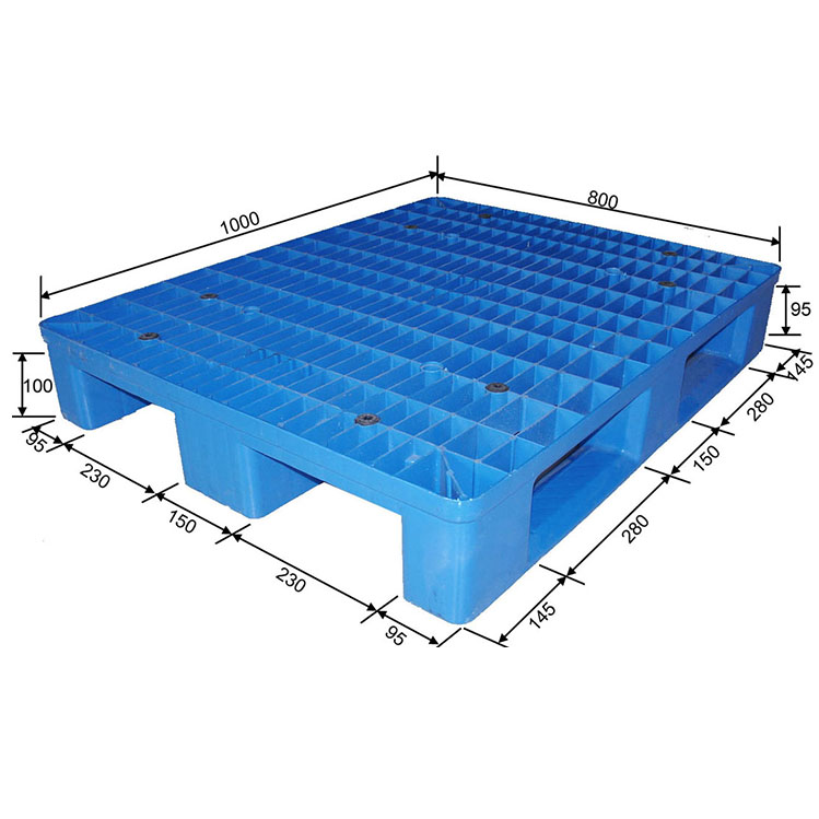 Cina a buon mercato custom heavy duty piccola pila double face HDPE pallet in plastica