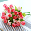Artificial pink rose fabric rose flower bouquet