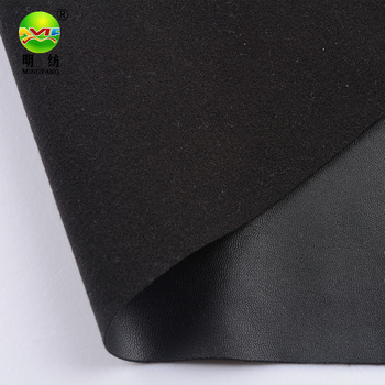 Hot sell 4 way stretch synthetic pu leather fabric