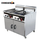 CHINZAO Gas Automatic Fryer Machine Deep Fryer Oil Filter Machine For Potato Chips