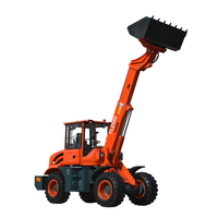Multi purpose small garden wheel loader with lawn mower and tree spade for sale