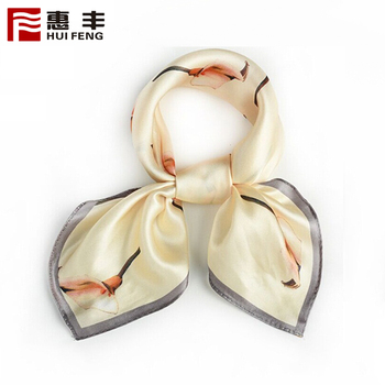 Factory Directly Printing Satin Silk Crinkle Head Scarf ,Scarf Silk Brand
