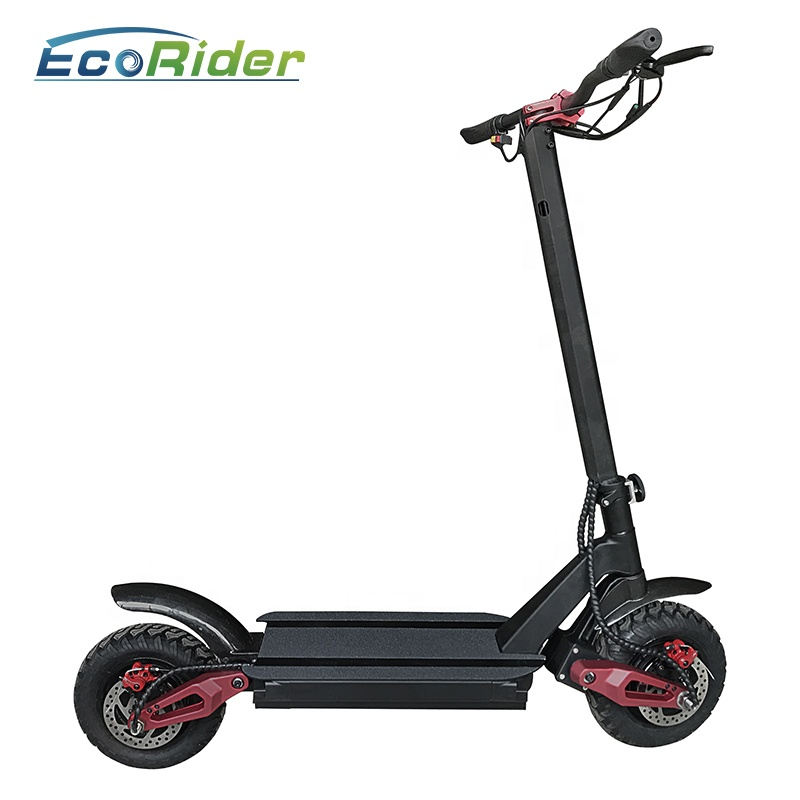 3600W dual motor electric powered scooter two wheel 10 inch fat tire off road cheap electric scooter with removable seat, N/a