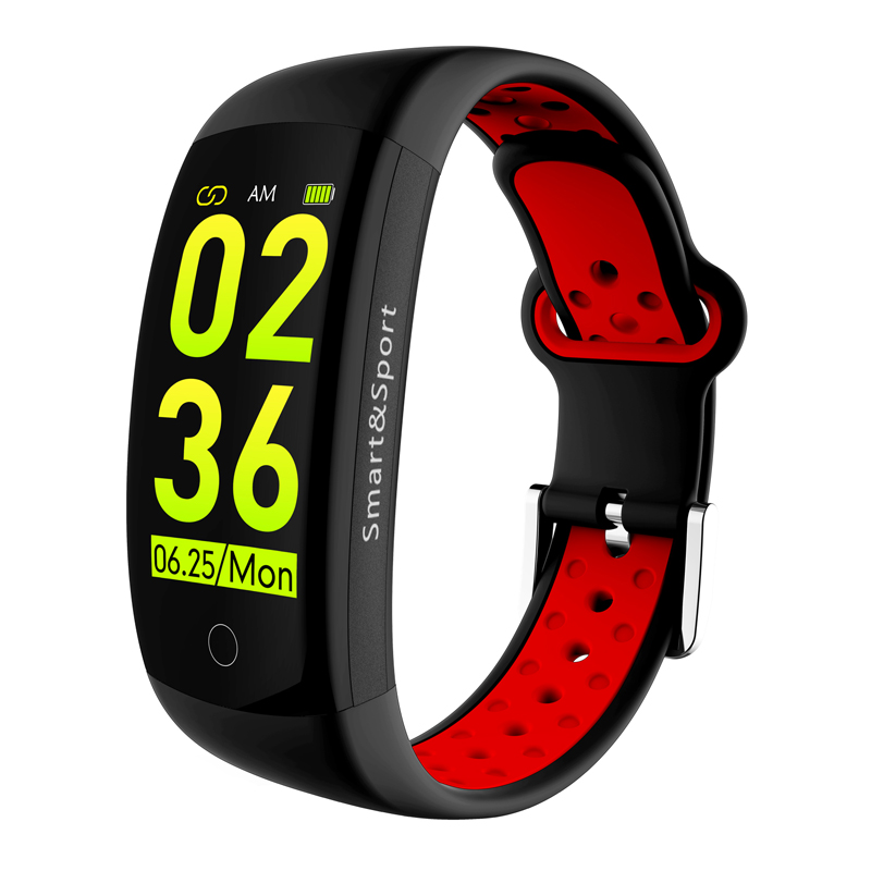 Manufacturer smart watch 3D Dynamic color touch screen ce rohs heart rate monitor smart bracelet q6s smartwatch ios system