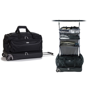 new fashionable wheeled duffel travel Trolley Bag with Garment Rack