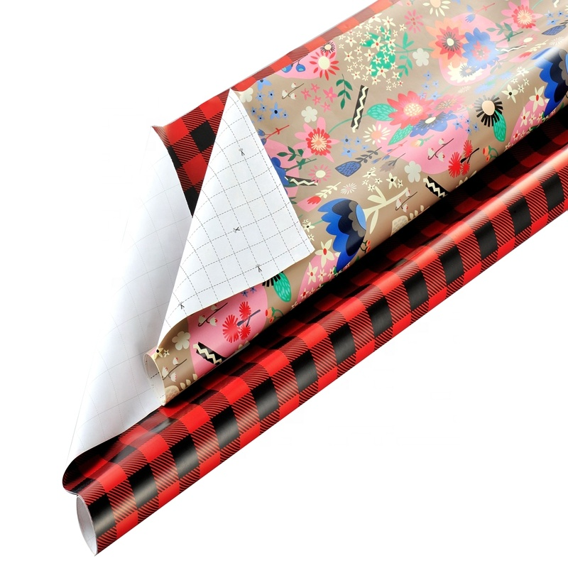 Hallmark All Occasion Wrapping Paper Bundle with Cut Lines on Reverse, classical designs wholesales gift wrap paper