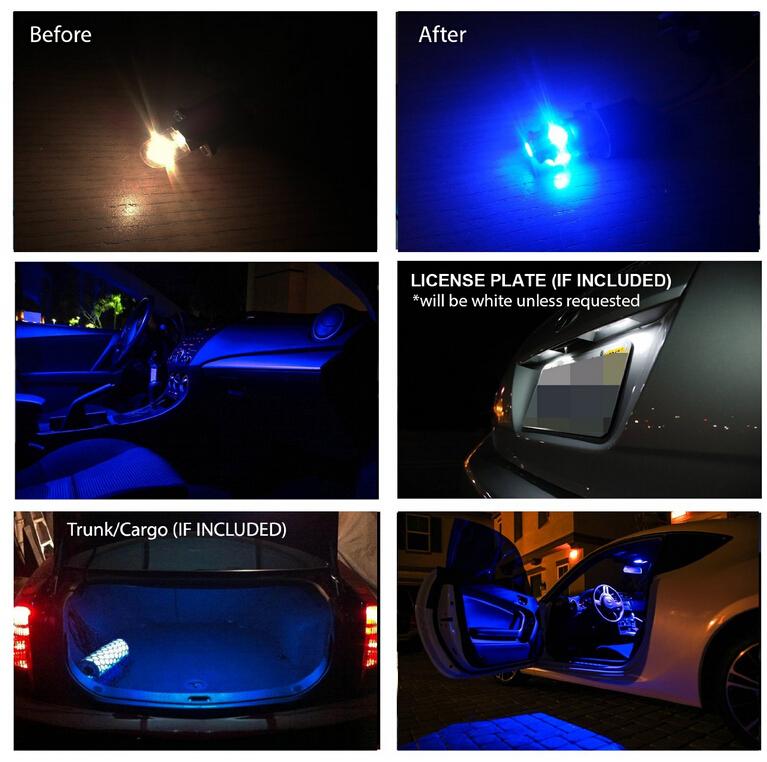 6pcs Lot 12v Xenon White Blue Package Kit Led Interior Lights For 10 15 Chevy Camaro Truck Clearance Light