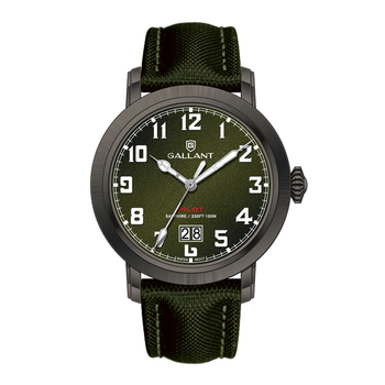 Pilot style 45mm stainless steel case 10 atm water resistant custom logo military watch